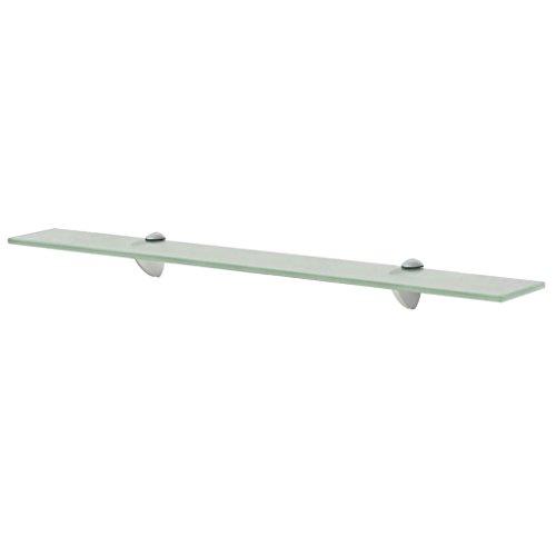SHENGFENG geschwungenes Regal/Wandregal, Sicherheitsglas, 70 x 20 cm, Traglast: 10 kg