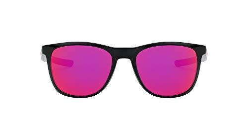 Oakley Men's OO9340 Trillbe X Rectangular Sunglasses, Polished Black/Ruby Iridium, 52 mm