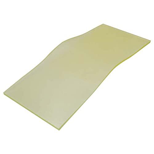Lámina de caucho, Caucho de silicona, Lámina de sorbotano de poliuretano de alta calidad Caucho Resistente a los productos químicos Amarillo(8 * 200 * 500 mm)