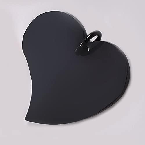 WANM Colgante Charms 5 Piezas De Estampado De Corazón De Acero Inoxidable Durante Los Hallazgos De La Joyería del Collar