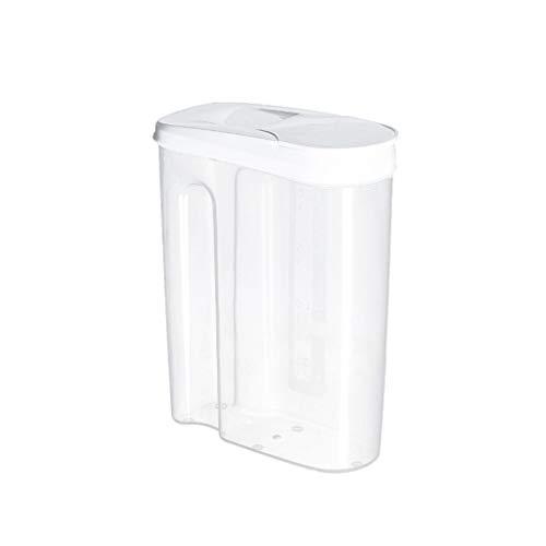 99native Frischhaltedosen-Set, Vorratsdosen, Bonbonglas, Plastik Vorratsbehälter, Aufbewahrungsbox für die Küche, luftdicht, für Aufbewahrung von Zutaten & Gewürzen– durchsichtig (Weiß, L)