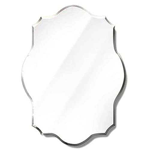 HHDD Espejo del Soporte de la Pared, Espejo Biselado Impermeable Creativo del Polígono del Espejo de la Decoración del Dormitorio del Cuarto de Baño