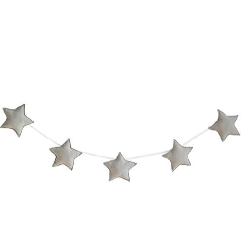 Sala de 5pcs / set del bebé del cuarto de niños de estrellas para niños guirnaldas de Navidad decoraciones de pared de la sala apoyos de la fotografía Los mejores regalos