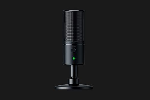 Oferta de Razer Seiren EmoteMicrófono de condensador USB para transmisión, Micrófono para Streaming, Compacto con amortiguador, patrón de grabación supercardioide, LED Chroma, Negro