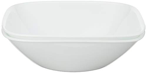 Corelle Square Pure White 1-Quart Bowl Set (2-Piece)