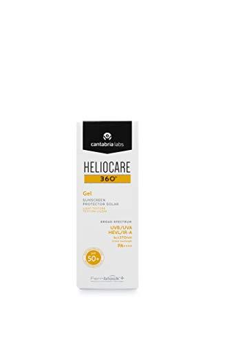 Heliocare 360º Gel SPF 50+ - Crema Solar Facial, Fotoprotector Avanzado, Textura Gel, Ligera, Rápida Absorción, Pieles Normales o Mixtas, Antioxidante, 50ml