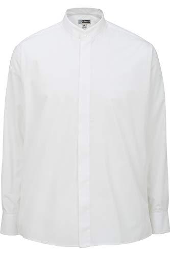 Edwards Men's Banded Collar Shirt Large White