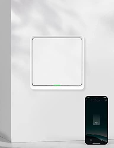 Interruptor de Luz WiFi, Maxcio Interruptor Inteligente 1 Gang Control de APP, Compatible con Alexa Echo y Google Home, Interruptor Pared WiFi con Temporizadorm, Neutro Requerido