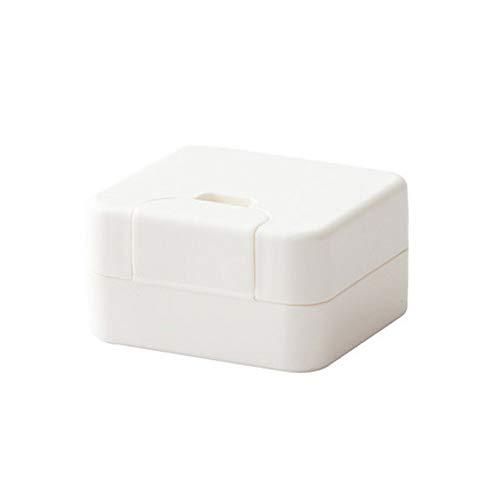 Yhjkvl-HO Jabonera cuadrada duradera de viaje para ducha, baño, jabón, para camping, senderismo (color: blanco, tamaño: libre)