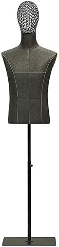 JinSui Maniqui Regulable Costura Maniqui Maniquí de Modelo Masculino con Cabeza de Alambre de Metal simulado de Sastre Profesional