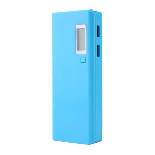 SALUTUY Cargador Portátil Power Bank, Power Bank Box Puertos USB Duales Batería Power Bank con Linterna LED para Teléfono(Azul)