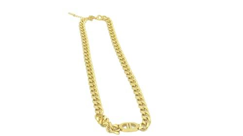 티타늄강으로 만든 도프크 도프크 금도금 더블 D 펜던트 목걸이 여성 소녀 소년 남성을 위한 색상은 그대로 유지될 것이다