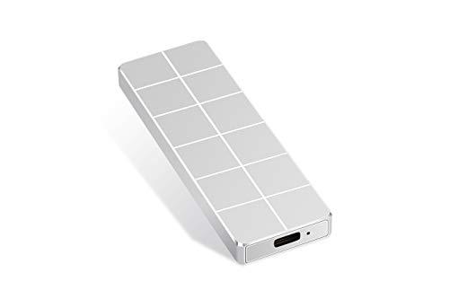 External Hard Drive, Portable Hard Drive External Slim Hard Drive 1TB 2TB Data Storage Compatible with PC, Laptop and Mac (2TB Silver)