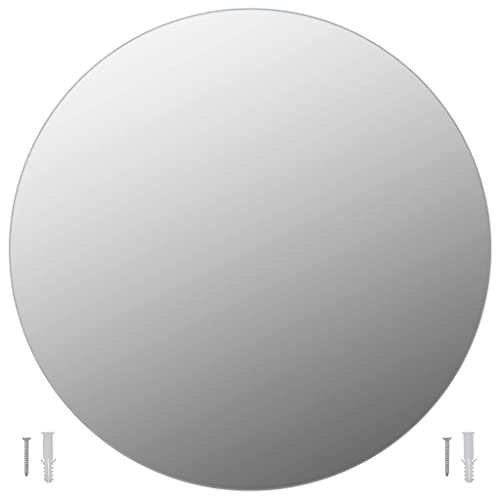 vidaXL Espejo de Pared Redondo Vidrio 70cm Decoración de Interior Casa Hogar