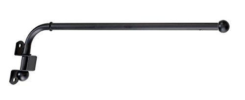 deko-raumshop Schwenkstange Gardinenstange Metall Stange Schwenkarm Schwarz schwenkbar ausziehbar 30 bis 50 cm und 60 bis 110 cm (60 bis 110 cm)