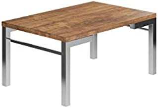 Carraro Side Table Tabel with Chromed Steel Structure, Brown - 1560
