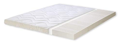 Primo Line Natuurlatex Topper 90x200 H2 7 zones Hoogte 8 cm RG 75 (tot 95kg) Matras Topper voor boxspringbed (90x200x8)