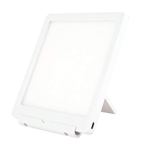 SAD Lights LED-Therapielampe 6000-10000 Lux Tragbare natürliche Sonnenlichtlampe mit 2 einstellbaren Helligkeits- und Touch-Steuerelementen für zu Hause oder im Büro, Weiß
