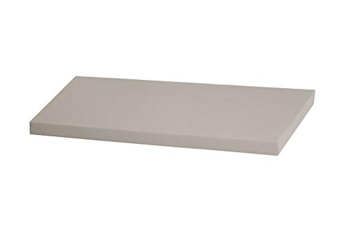 Superelch Sitzauflage f. IKEA Stuva Banktruhe Bankauflage Sitzpolster Sitzbank-Auflage/Auflage für Truhe als Sitzbank, unempfindlicher Baumwollbezug, Farbe grau hellgrau