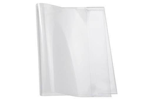 HERMA 14040 Buchumschlag für Workbook 30 x 43,1 cm, geeignet für DIN A4 Hefte, Buchhülle aus robuster Folie mit verschweißten Kantenschutz, Buchschoner für Schulbücher, transparent
