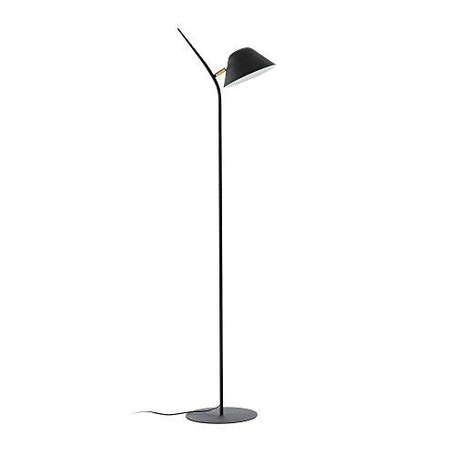 Kave Home - Lámpara de pie Aurelia negra de acero