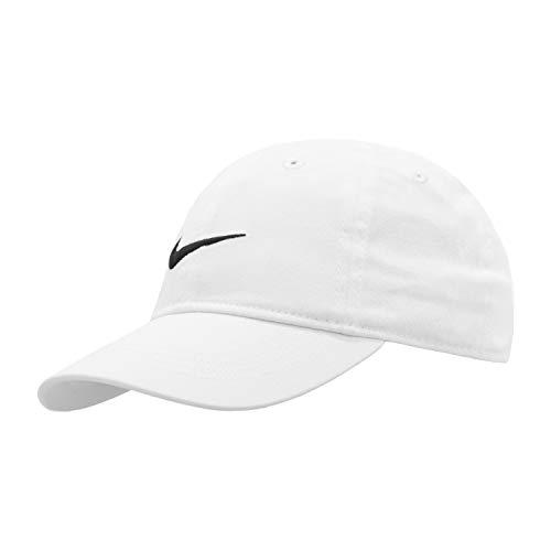 Nike Youth's Embroidered Swoosh Logo Cotton Baseball Cap SZ 4/7 (White)