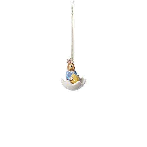 """Villeroy und Boch Bunny Tales Ornament \""""Max in Eischale\"""", Porzellan, Bunt, Hase Max"""