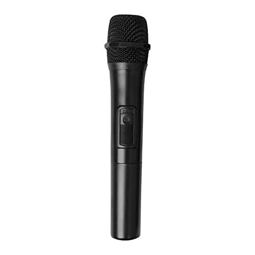 guoqunshop Karaoke-Maschine für Kinder Drahtloses Mikrofon im Freien mit drahtlosen Empfänger-Lautsprecher UHF. Technologie Allgemein größere Frequenz ohne Batterie, schwarz Kleinkindermikrofon