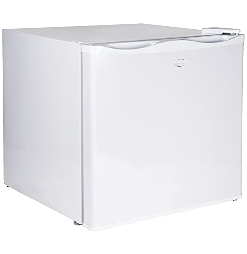 Koolatron Compact Upright Freezer with Compressor Cooling Technology, 1.2 Cubic Feet Chest Freezer - Ideal for Apartment, Condo, Office, RV, Cabin, Small Kitchen - White