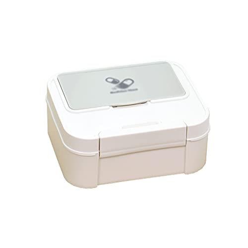 dxjsf Caja de Medicina pequeña Caja médica pequeña Caja de Primeros Auxilios portátil Caja de Almacenamiento Caja de Almacenamiento Caja de Medicina 8.07 Pulgadas (Color : B)