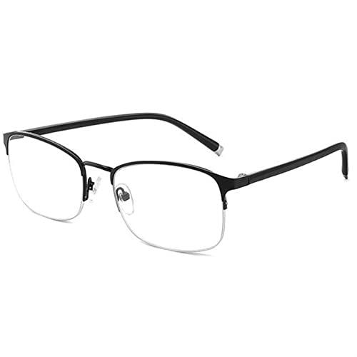 Gafas de Lectura, Gafas de Lectura ultraligeras Anti-rasguños, luz Anti Azul UV, Gafas presbílicas irrompibles for Hombres Mujeres (Color : +100, Size : Black)