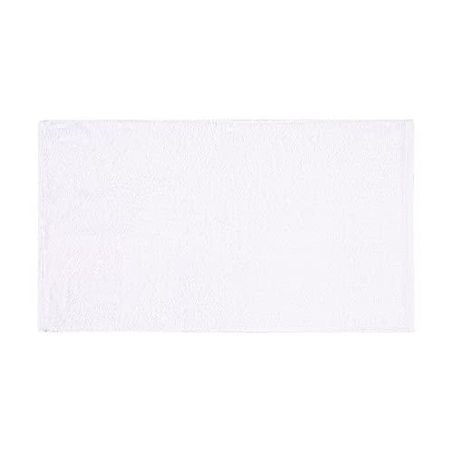 Asciugamano in spugna, bianco, 50 x 90 cm