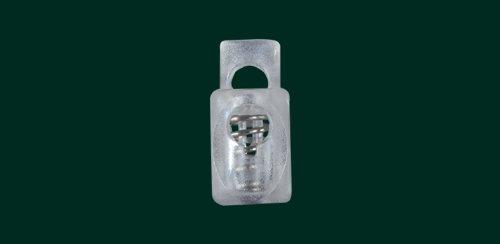 Ruther & Einenkel Kordelstopper für Bändchenrollos, transparent / 10 Stück