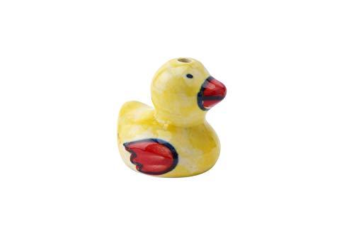 NEW Ceramic Yellow & Red Duck Duckling Ceramic Light Blind Pull Handle 4cm