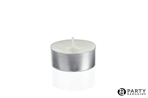 Tea Lights Candles   Decorative Tea Light Excellent for Weddings, Anniversaries, Bridal Showers, Birthdays, Church Luminaries, and More   Unscented White Candle Burns 4.5 Hours   100 Count