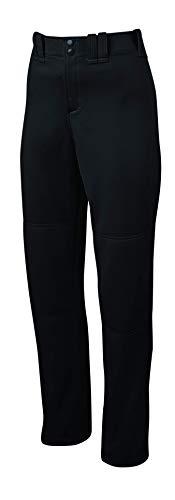 Mizuno Adult Women's Full Length Fastpitch Softball Pants With Hemmed Open Bottom, Black, Large