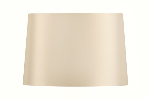 Oaks Lighting - Pantalla ovalada para lámpara (algodón, 25,4 cm), color blanco