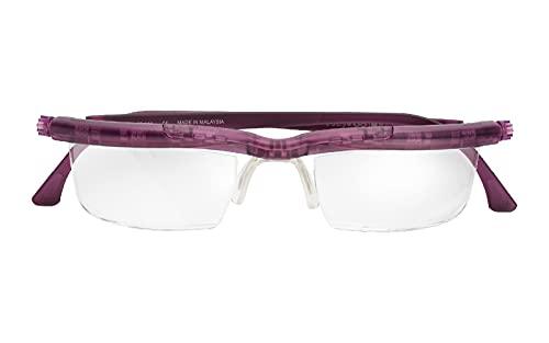 【自分で度数調節できるPCメガネ】アドレンズ スクリーンプロテクト バイオレット (ブルーライトカット/UVカット/拡大鏡機能付き)