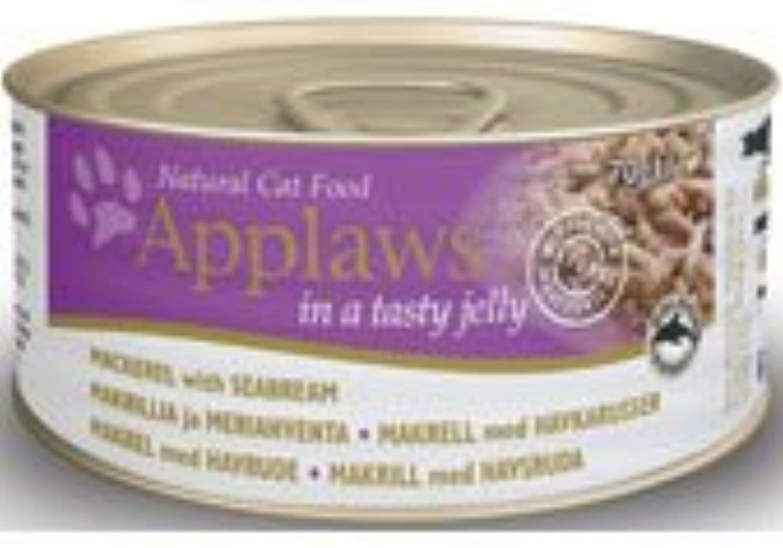 Applaws Mackerel & Seabreem In Jelly 24 x70g