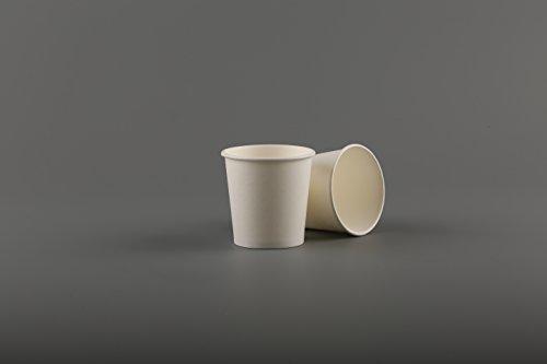 4oz wit papier bekers (100st) wegwerp enkele muur voor Espresso koffie Shots monsterneming partij weg picknick buiten (4oz)