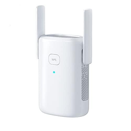 1200Mbps Ripetitore WiFi WE1200, WiFi Extender,Acceleratore WiFi, AP, 2,4GHz,5Ghz, con Porto Ethernet, WPS, Facile da Installare, per Estendere la Copertura della WiFi