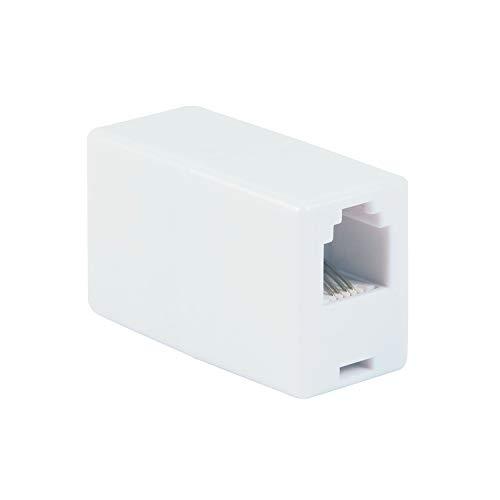 파워 기어 인 라인 커플러 10팩 전화 이상 응답기 모뎀 팩스 머신 발신자 ID 디스플레이 화이트 52227