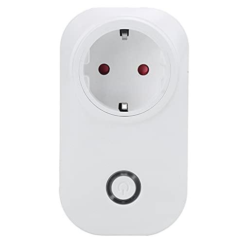 Enchufe de control remoto, control de aplicación portátil de gestión de tiempo de enchufe inteligente liviano con carcasa ignífuga para el hogar para 90-250 V(Transl)