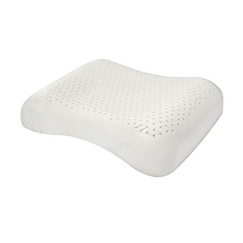 Cuscino per adulto puro in lattice naturale cuscino morbido con scollo a collo morbido per dormire comodo-Invia Wave di federa / 55 * 33 * 10 cm