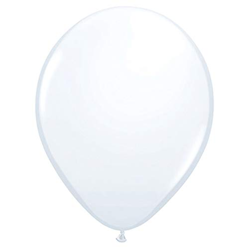 Qualatex Opaque White Biodegradable Latex Balloons, 5-Inch Round (100-Units)
