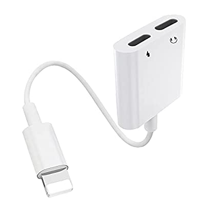 [Apple MFi Certified] Headphone Adapter for iPhone,[5 in 1] Dual Lightning Jack AUX Audio Cable Accessories Convertor Compatible with iPhone 12/11/X/XS/XR/8/8P/7/7P Support All iOS System-White by Carphone Warehouse