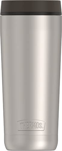 Guardian Collection by THERMOS Stainless Steel Tumbler 18 Ounce, Matte Steel/Espresso Black