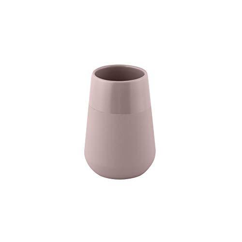 Axentia Nevada Bicchiere portaspazzolino da Denti, gres, Grigio Talpa, Ø 7,5 cm