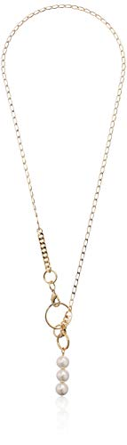 French Connection Linked Pearl Y Necklace, White, One Size
