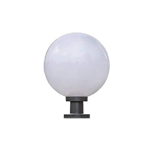 Bloomry Lámpara de Pilar eléctrico/Solar Bola Creativa Globo Exterior Columna Impermeable Luz...